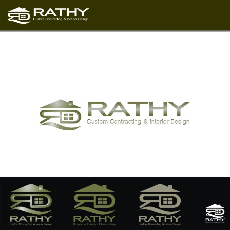 Logo Design by graphicleaf - Entry No. 105 in the Logo Design Contest Logo Design Needed for Exciting New Company Rathy Custom Contracting & Interior Design.