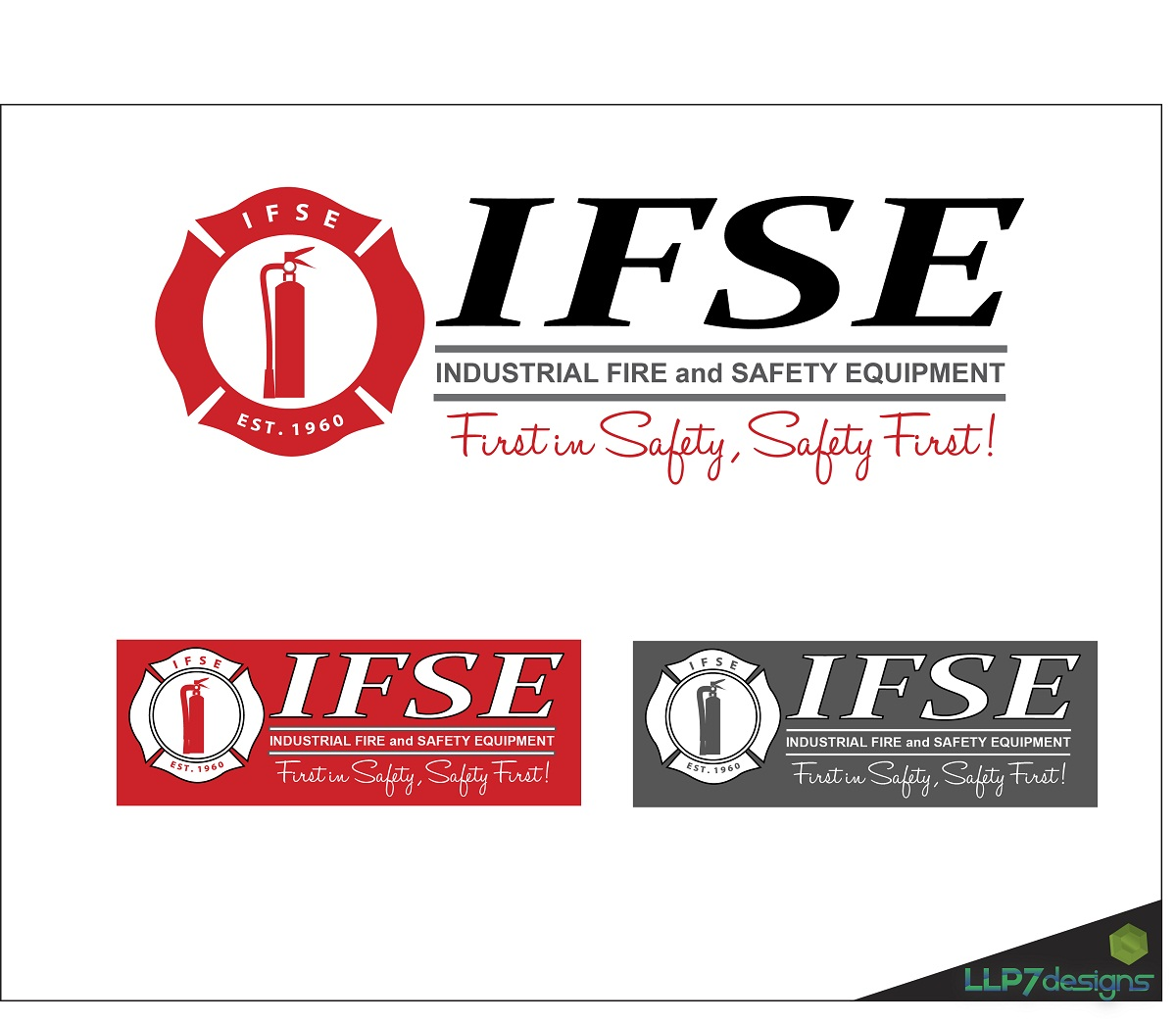 Logo Design by LLP7 - Entry No. 24 in the Logo Design Contest New Logo Design for Industrial Fire and Safety Equipment, Inc..