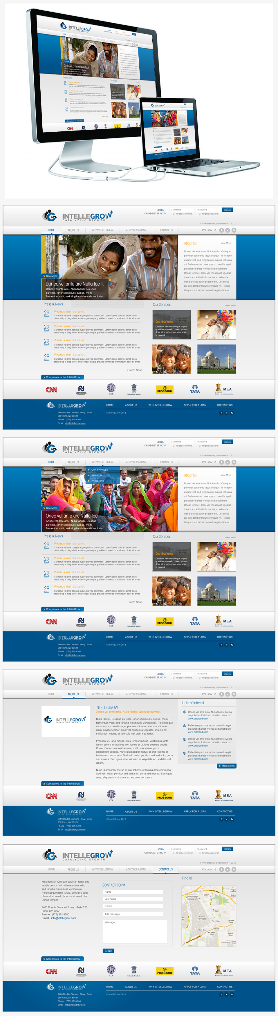 Web Page Design by Juma Studio - Entry No. 21 in the Web Page Design Contest IntelleGrow Finance Web Page Design.