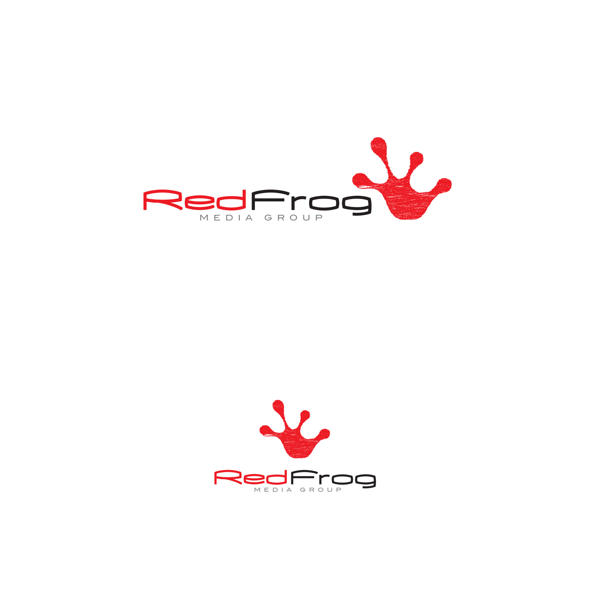 Logo Design by tanganpanas - Entry No. 22 in the Logo Design Contest New Logo Design for Red Frog Media Group.