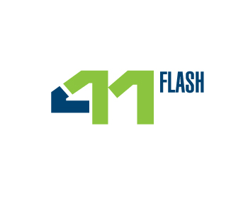 Logo Design by designaurus - Entry No. 4 in the Logo Design Contest 411Flash Logo Design.