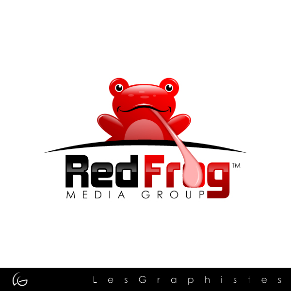 Logo Design by Les-Graphistes - Entry No. 48 in the Logo Design Contest New Logo Design for Red Frog Media Group.