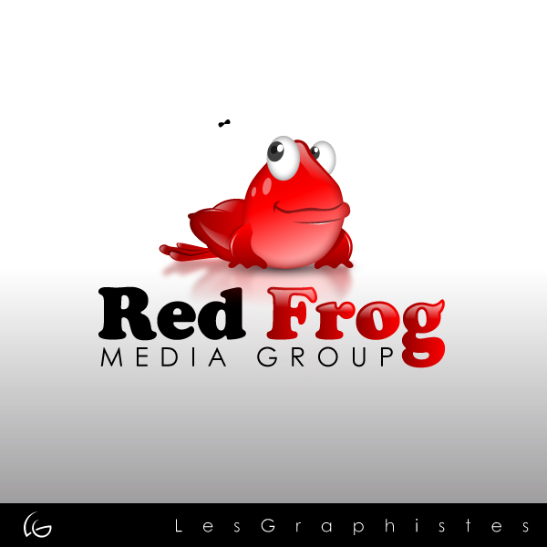 Logo Design by Les-Graphistes - Entry No. 51 in the Logo Design Contest New Logo Design for Red Frog Media Group.