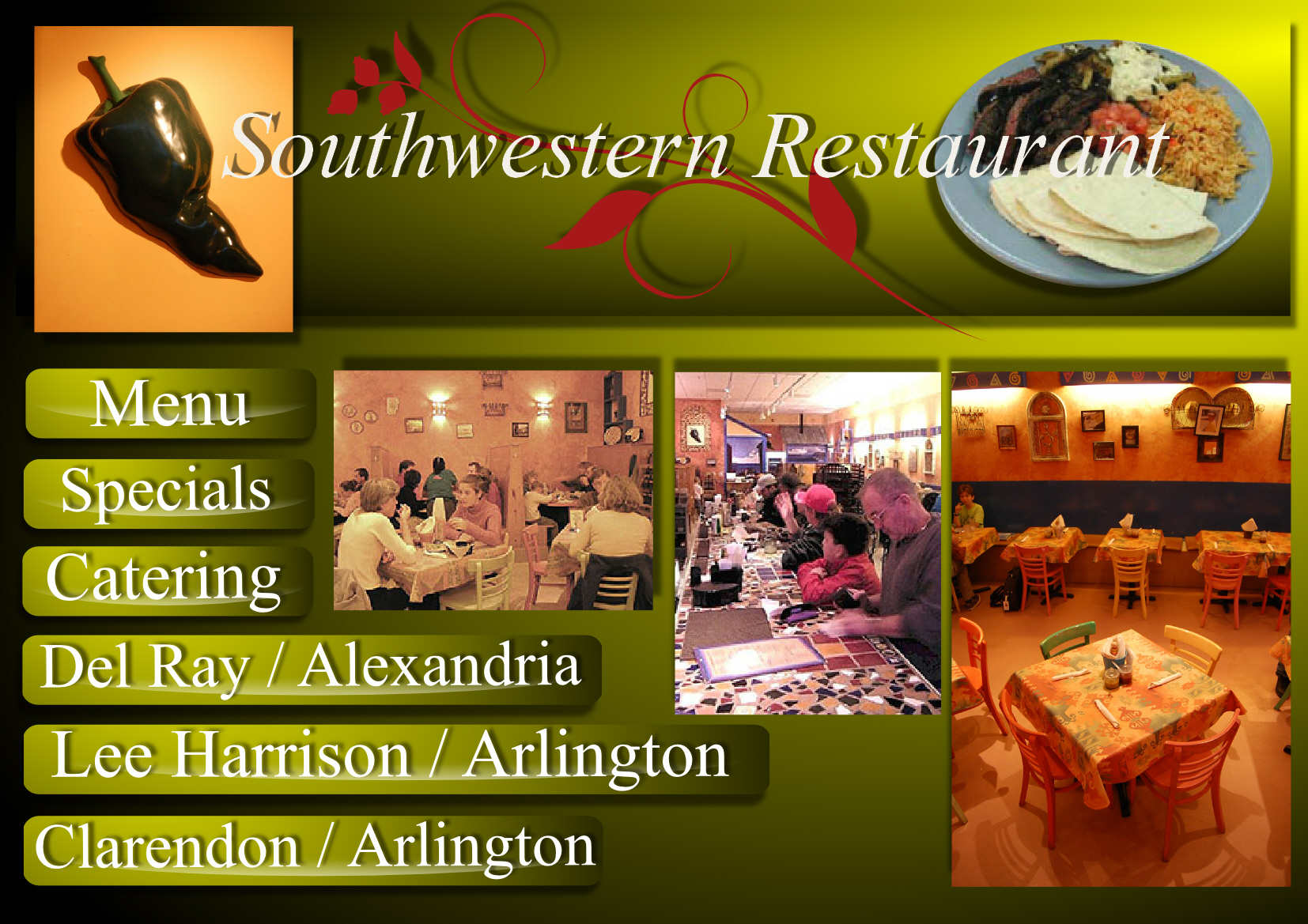 Web Page Design by Heri Susanto - Entry No. 1 in the Web Page Design Contest New Web Page Design for Southwestern restaurant.