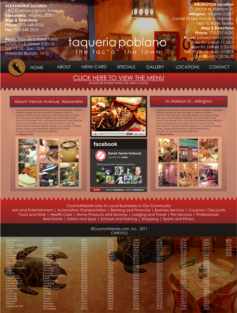 Web Page Design by Rendra Jannu - Entry No. 15 in the Web Page Design Contest New Web Page Design for Southwestern restaurant.