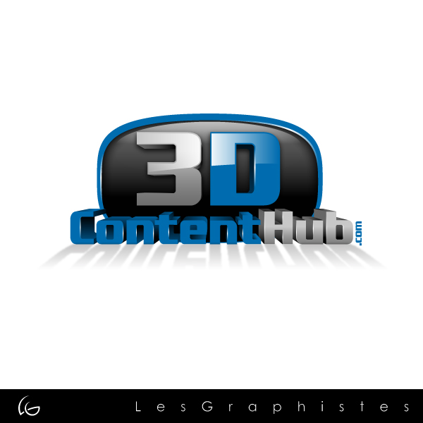 Logo Design by Les-Graphistes - Entry No. 1 in the Logo Design Contest Unique Logo Design Wanted for 3DContentHub (.com).