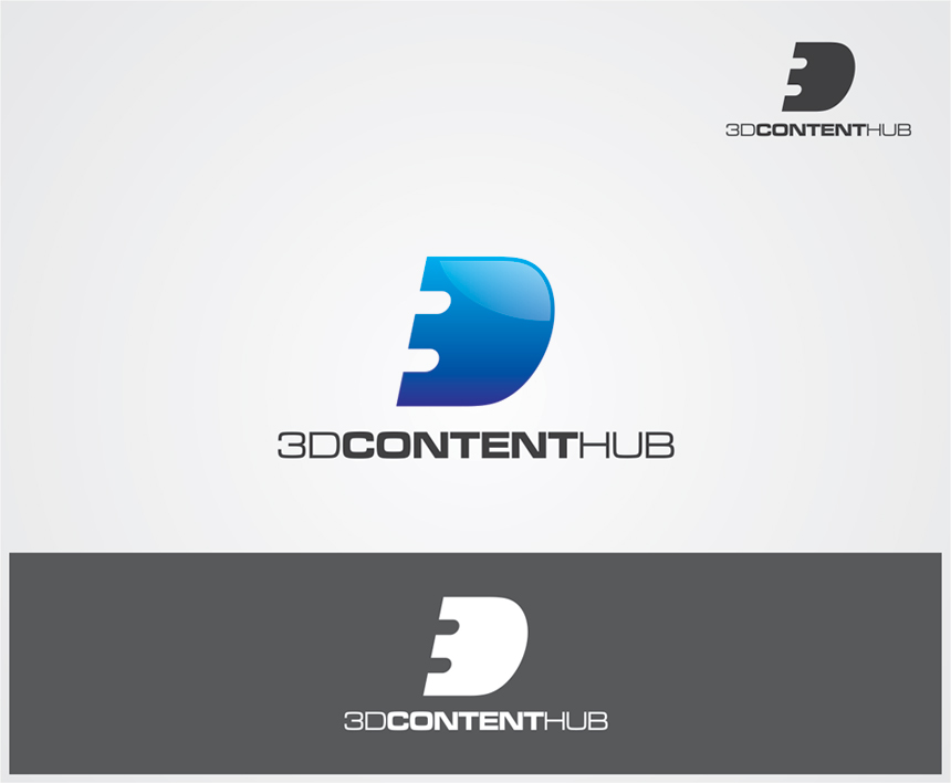Logo Design by vdhadse - Entry No. 6 in the Logo Design Contest Unique Logo Design Wanted for 3DContentHub (.com).