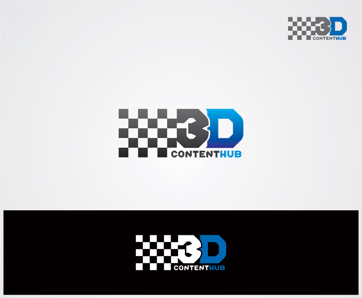 Logo Design by vdhadse - Entry No. 10 in the Logo Design Contest Unique Logo Design Wanted for 3DContentHub (.com).