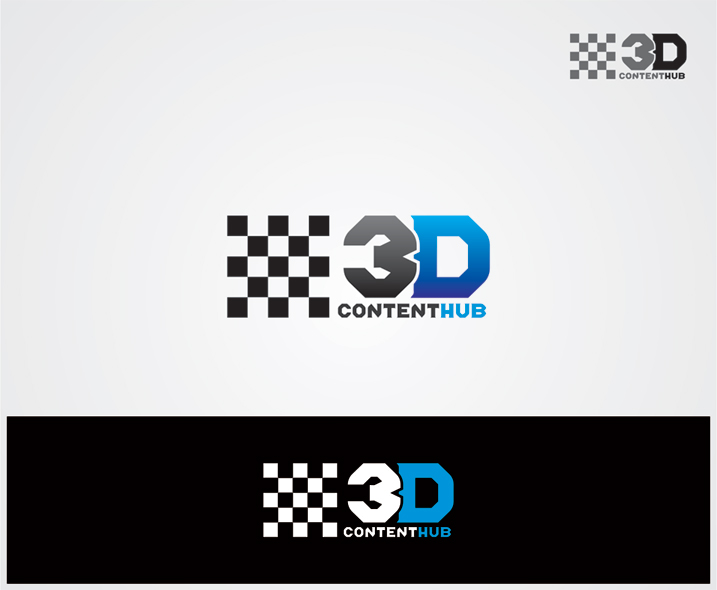 Logo Design by vdhadse - Entry No. 11 in the Logo Design Contest Unique Logo Design Wanted for 3DContentHub (.com).