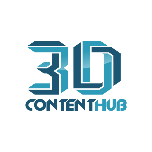 Logo Design by Rudy - Entry No. 12 in the Logo Design Contest Unique Logo Design Wanted for 3DContentHub (.com).