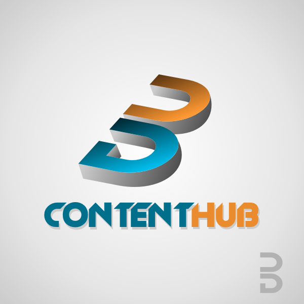 Logo Design by Rudy - Entry No. 13 in the Logo Design Contest Unique Logo Design Wanted for 3DContentHub (.com).