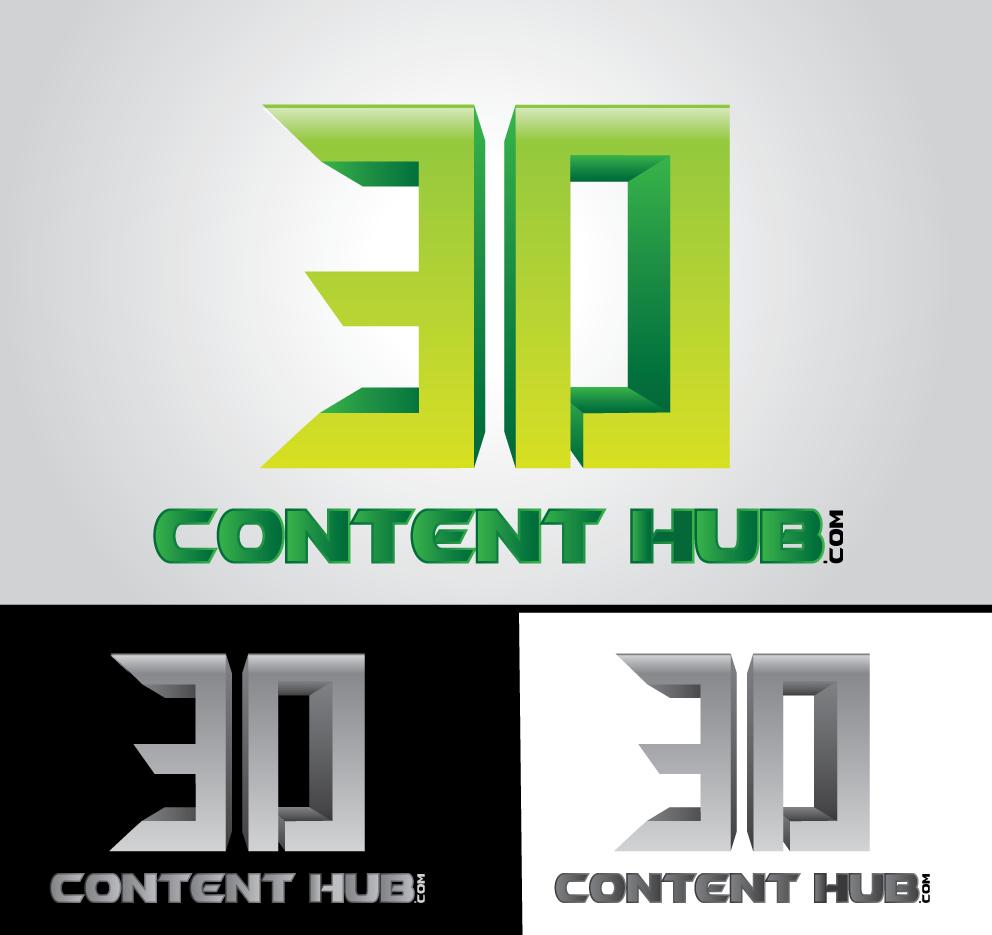 Logo Design by hado0o0od - Entry No. 17 in the Logo Design Contest Unique Logo Design Wanted for 3DContentHub (.com).