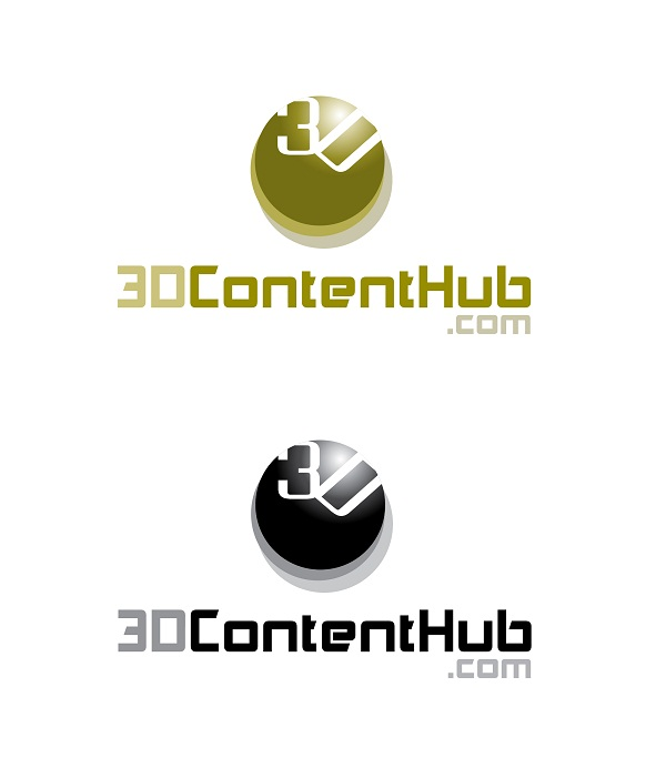 Logo Design by kowreck - Entry No. 20 in the Logo Design Contest Unique Logo Design Wanted for 3DContentHub (.com).