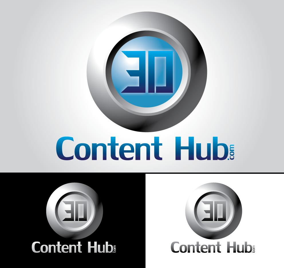 Logo Design by hado0o0od - Entry No. 23 in the Logo Design Contest Unique Logo Design Wanted for 3DContentHub (.com).