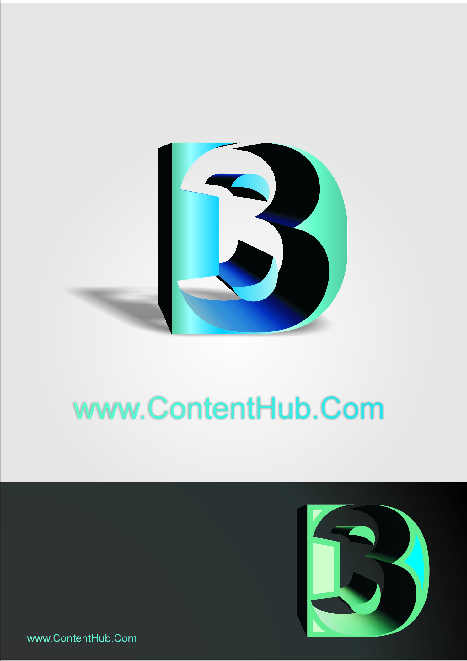 Logo Design by dimitrovart - Entry No. 24 in the Logo Design Contest Unique Logo Design Wanted for 3DContentHub (.com).