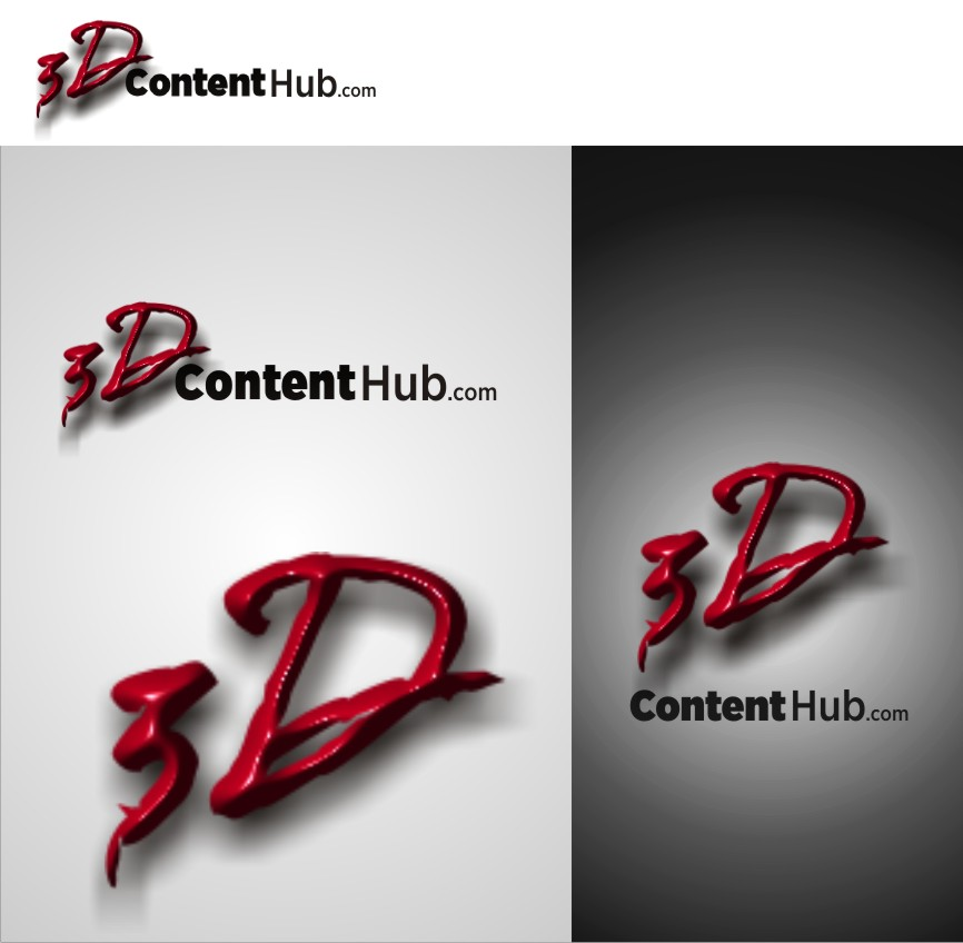 Logo Design by Muhammad Nasrul chasib - Entry No. 26 in the Logo Design Contest Unique Logo Design Wanted for 3DContentHub (.com).