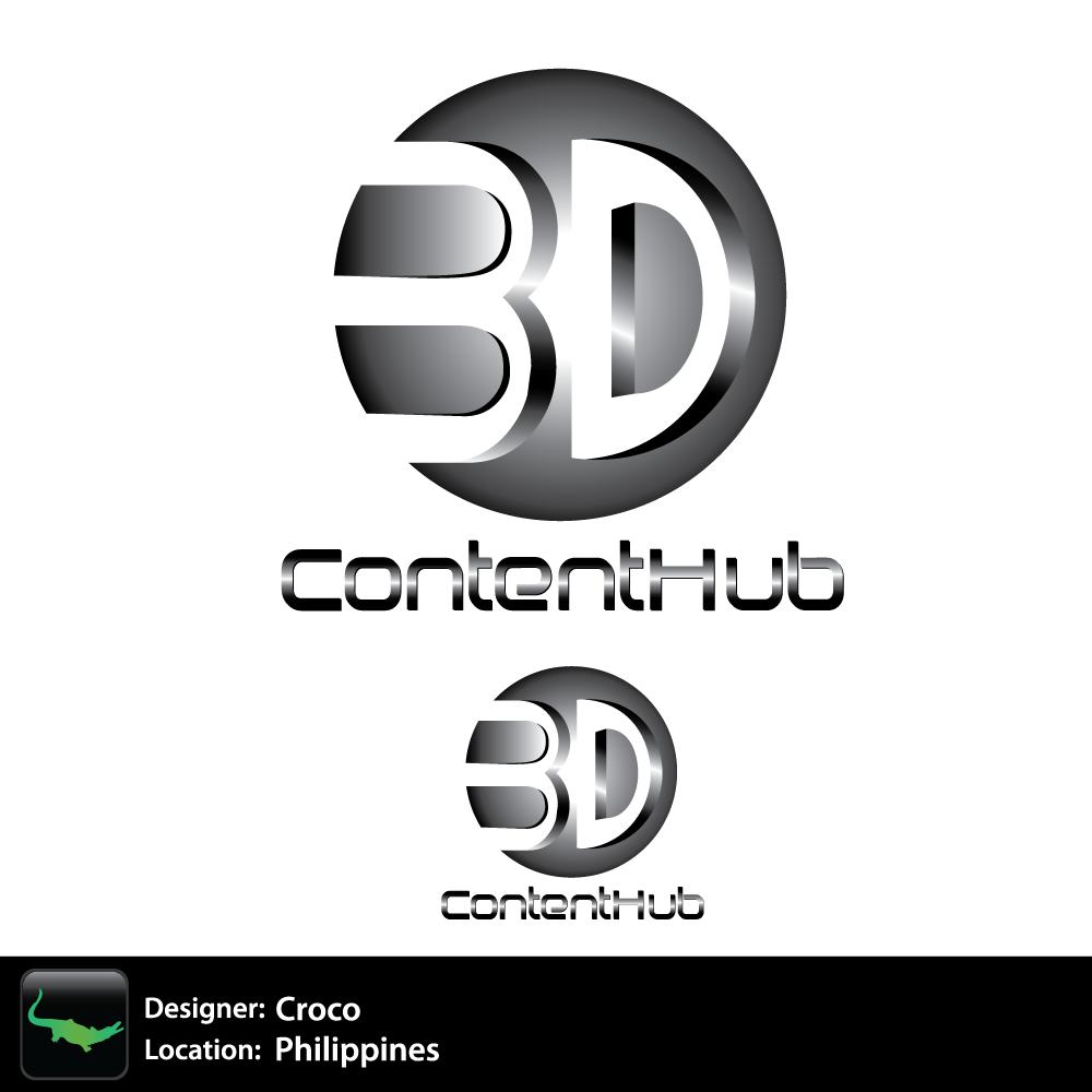 Logo Design by rockin - Entry No. 27 in the Logo Design Contest Unique Logo Design Wanted for 3DContentHub (.com).