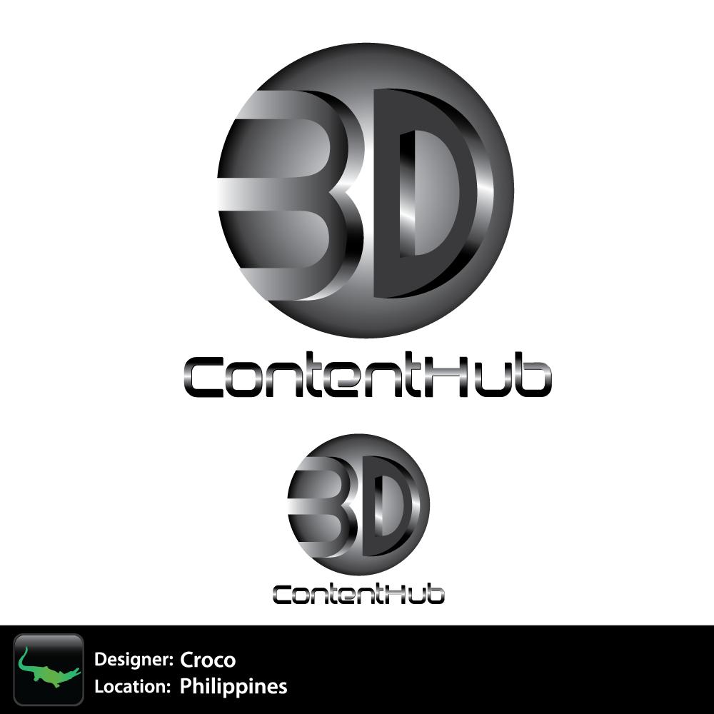 Logo Design by rockin - Entry No. 28 in the Logo Design Contest Unique Logo Design Wanted for 3DContentHub (.com).