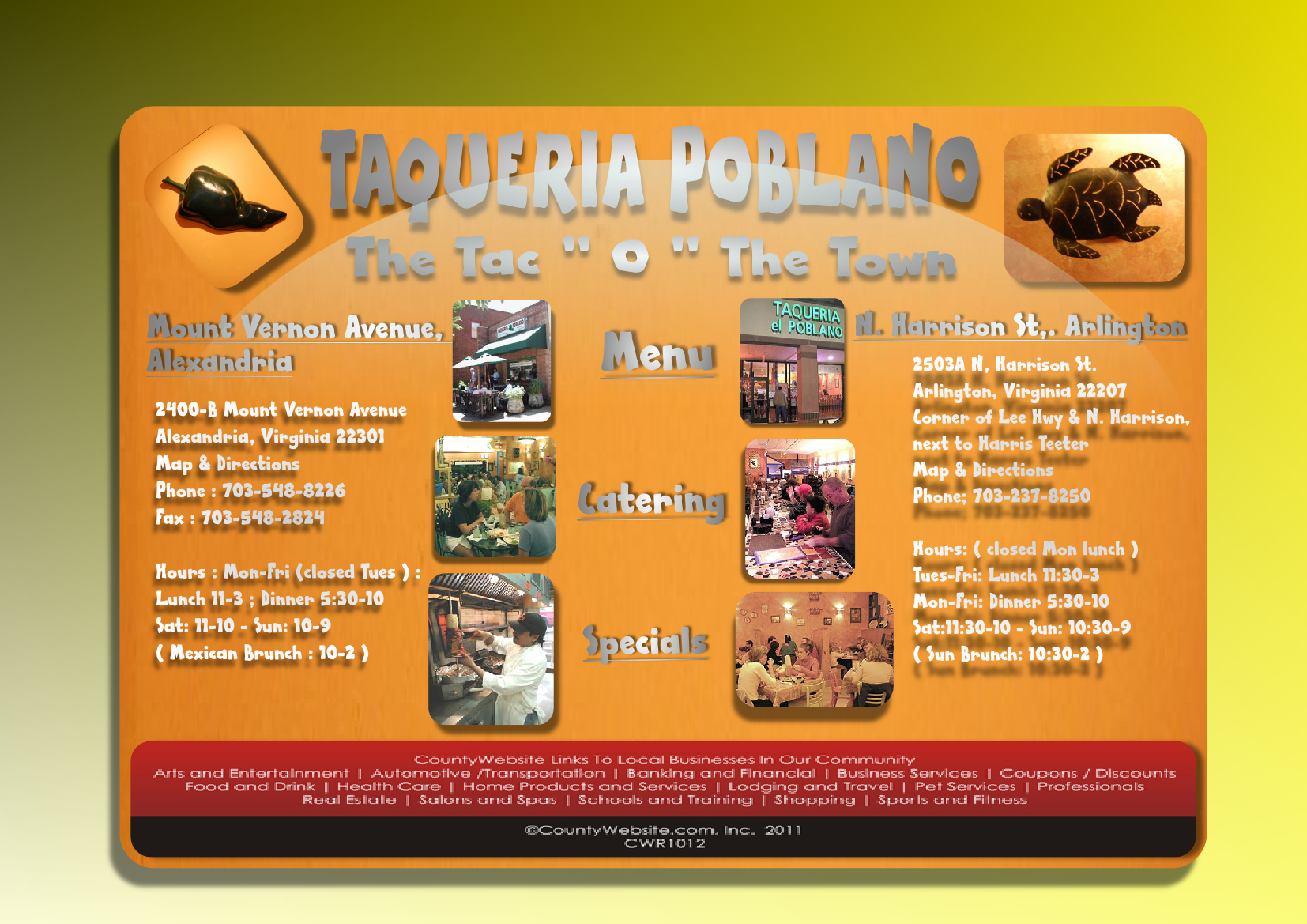 Web Page Design by Heri Susanto - Entry No. 17 in the Web Page Design Contest New Web Page Design for Southwestern restaurant.