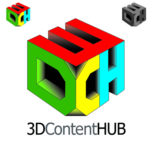Logo Design by MilesGrahamUK - Entry No. 31 in the Logo Design Contest Unique Logo Design Wanted for 3DContentHub (.com).