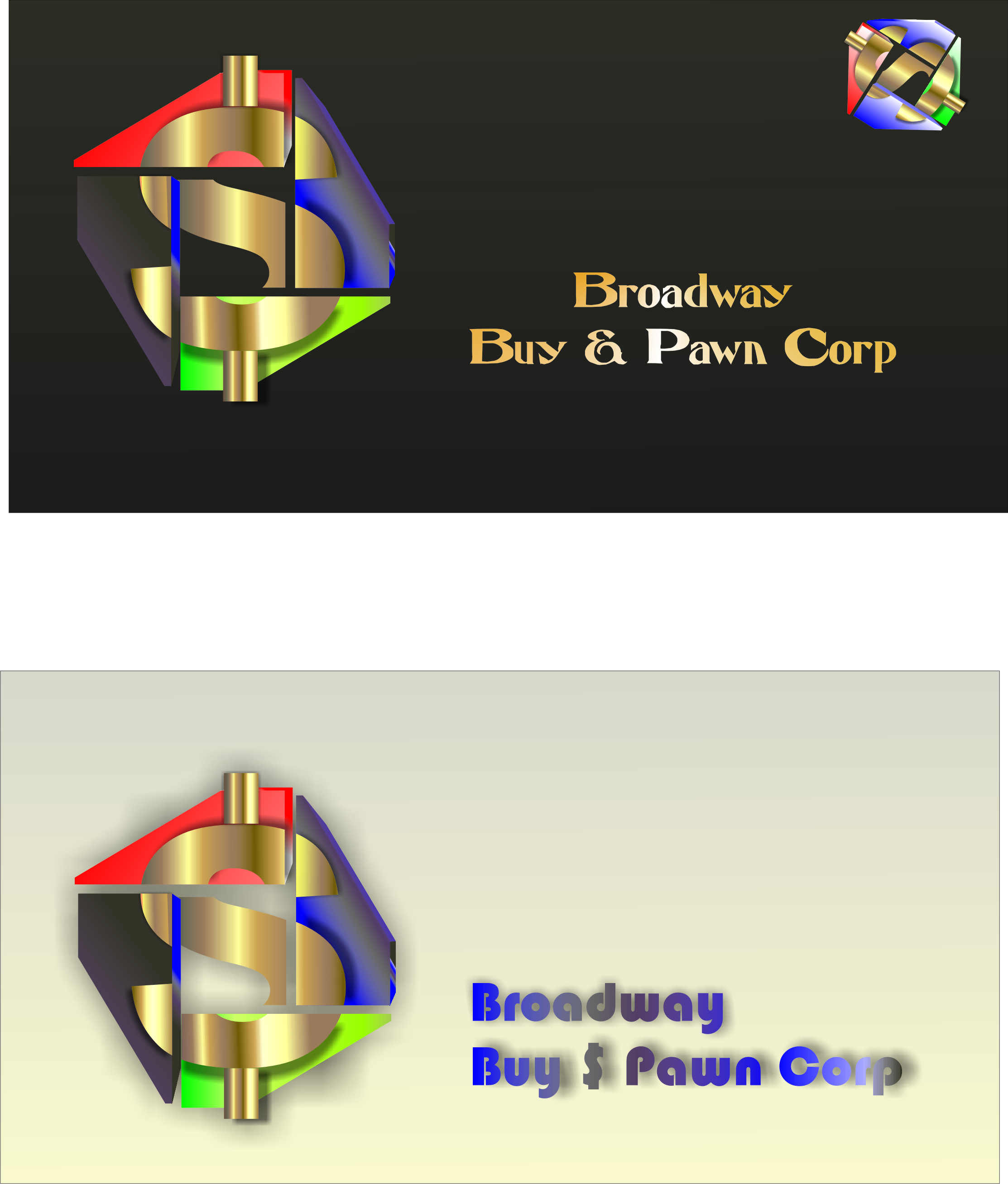 Logo Design by dimitrovart - Entry No. 9 in the Logo Design Contest Unique Logo Design Wanted for Broadway Buy & Pawn corp or BNP for short.