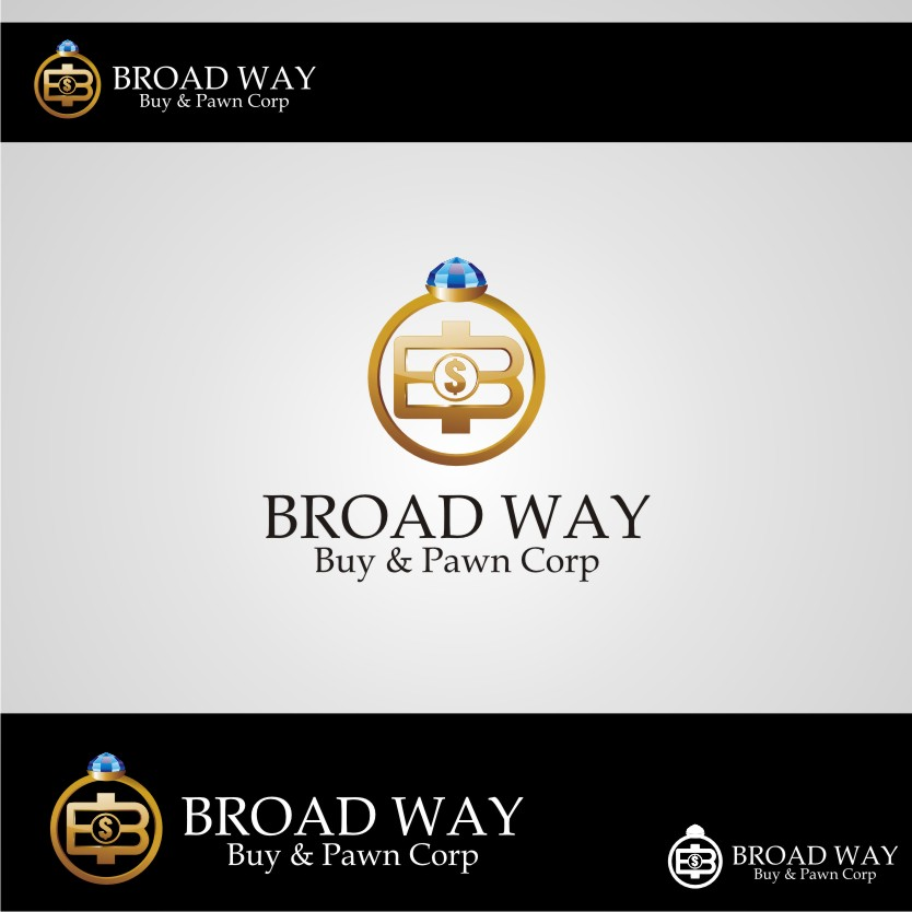 Logo Design by Muhammad Nasrul chasib - Entry No. 11 in the Logo Design Contest Unique Logo Design Wanted for Broadway Buy & Pawn corp or BNP for short.
