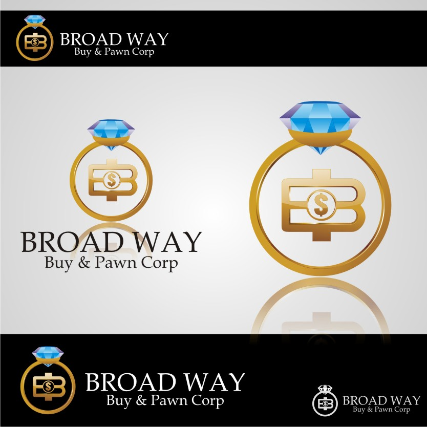 Logo Design by graphicleaf - Entry No. 17 in the Logo Design Contest Unique Logo Design Wanted for Broadway Buy & Pawn corp or BNP for short.