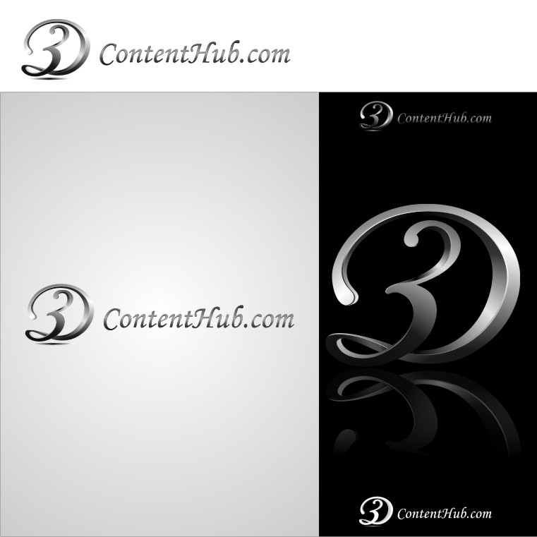 Logo Design by graphicleaf - Entry No. 34 in the Logo Design Contest Unique Logo Design Wanted for 3DContentHub (.com).