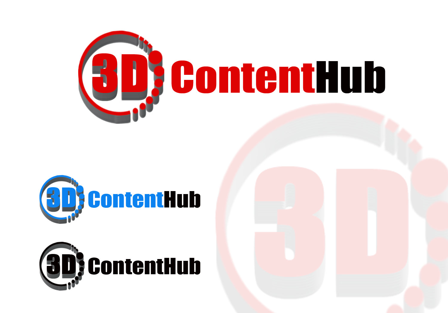 Logo Design by Golden_Hand - Entry No. 37 in the Logo Design Contest Unique Logo Design Wanted for 3DContentHub (.com).