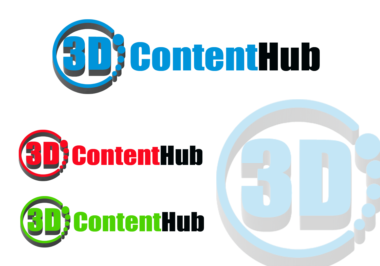 Logo Design by golden-hand - Entry No. 38 in the Logo Design Contest Unique Logo Design Wanted for 3DContentHub (.com).