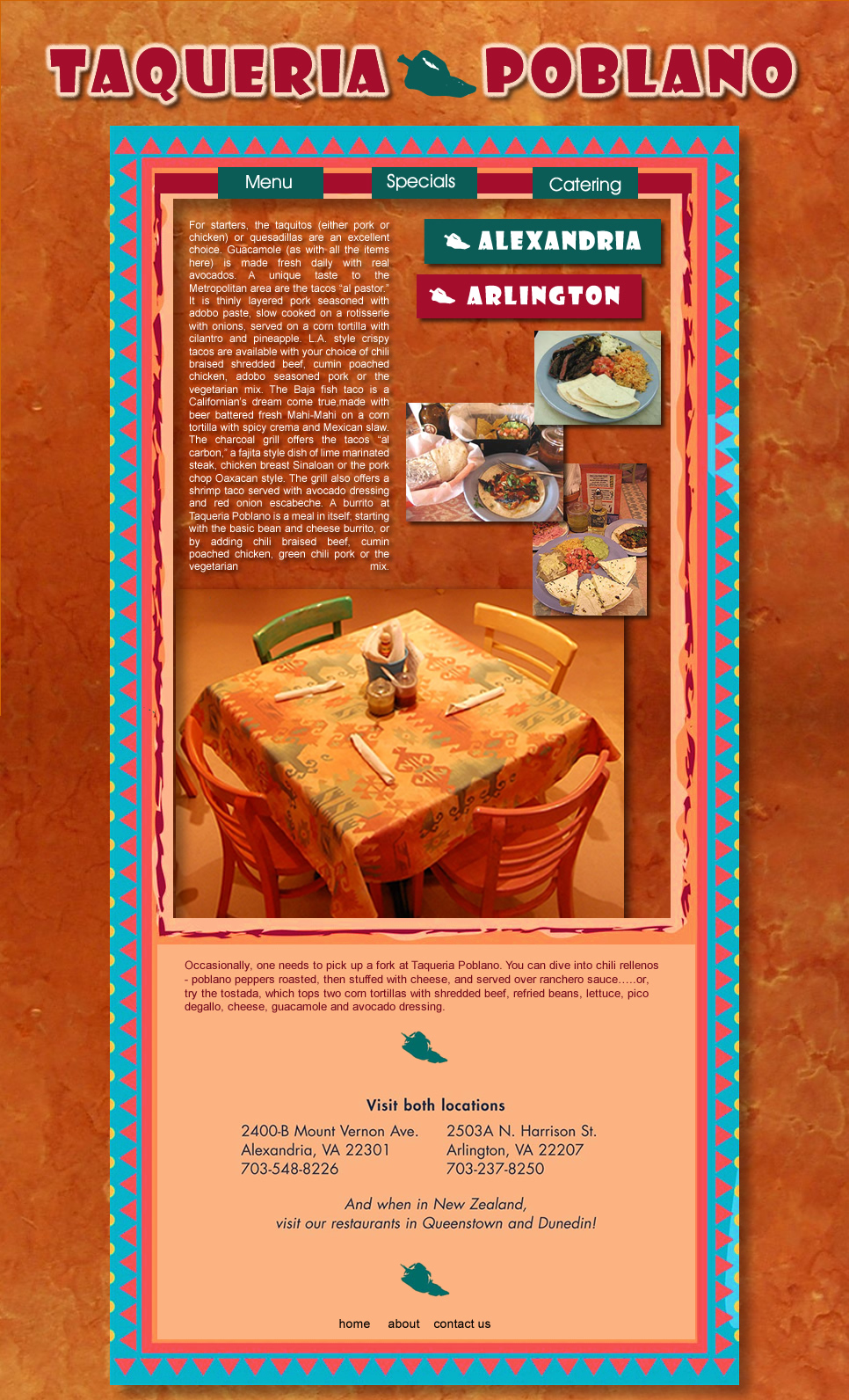 Web Page Design by Rudy - Entry No. 24 in the Web Page Design Contest New Web Page Design for Southwestern restaurant.