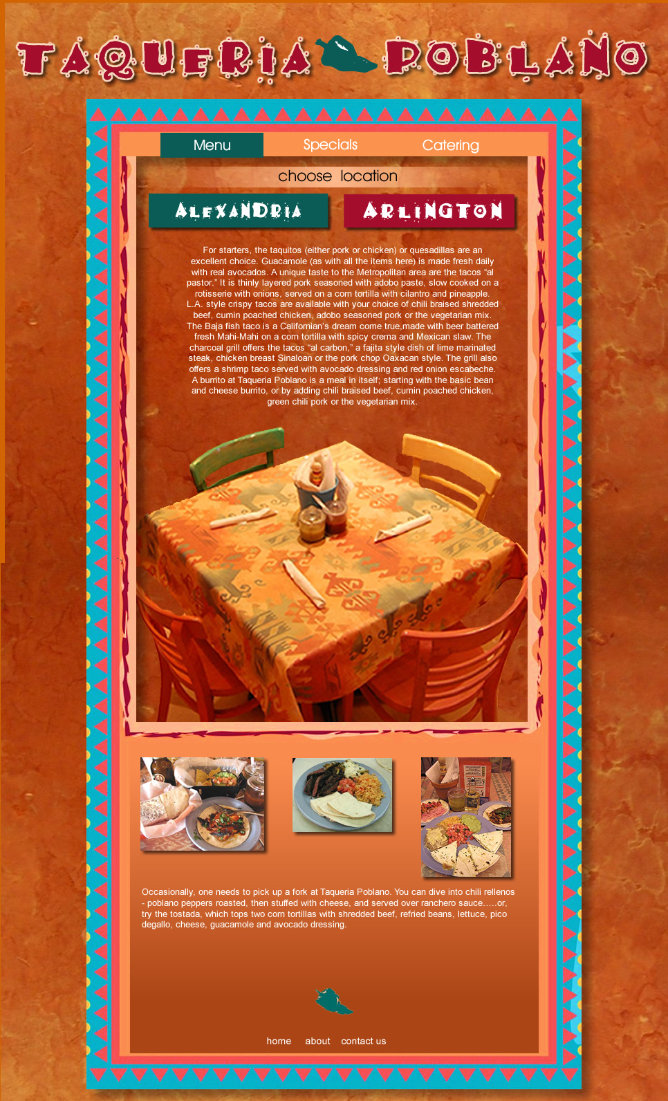 Web Page Design by Rudy - Entry No. 25 in the Web Page Design Contest New Web Page Design for Southwestern restaurant.