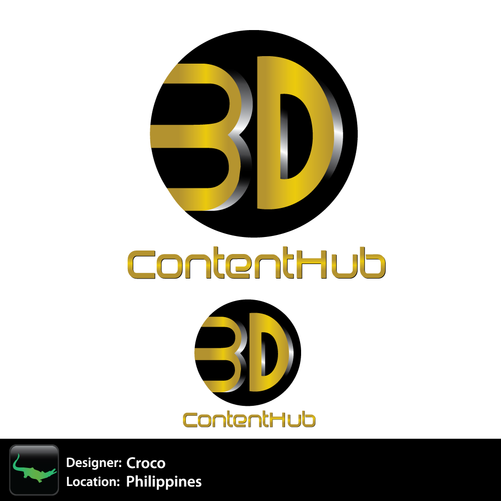 Logo Design by rockin - Entry No. 46 in the Logo Design Contest Unique Logo Design Wanted for 3DContentHub (.com).