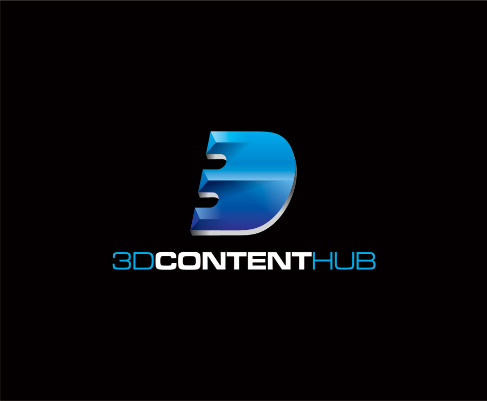 Logo Design by vdhadse - Entry No. 49 in the Logo Design Contest Unique Logo Design Wanted for 3DContentHub (.com).