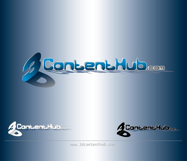 Logo Design by kowreck - Entry No. 67 in the Logo Design Contest Unique Logo Design Wanted for 3DContentHub (.com).