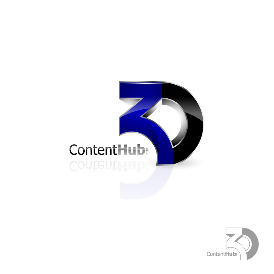 Logo Design by zesthar - Entry No. 96 in the Logo Design Contest Unique Logo Design Wanted for 3DContentHub (.com).