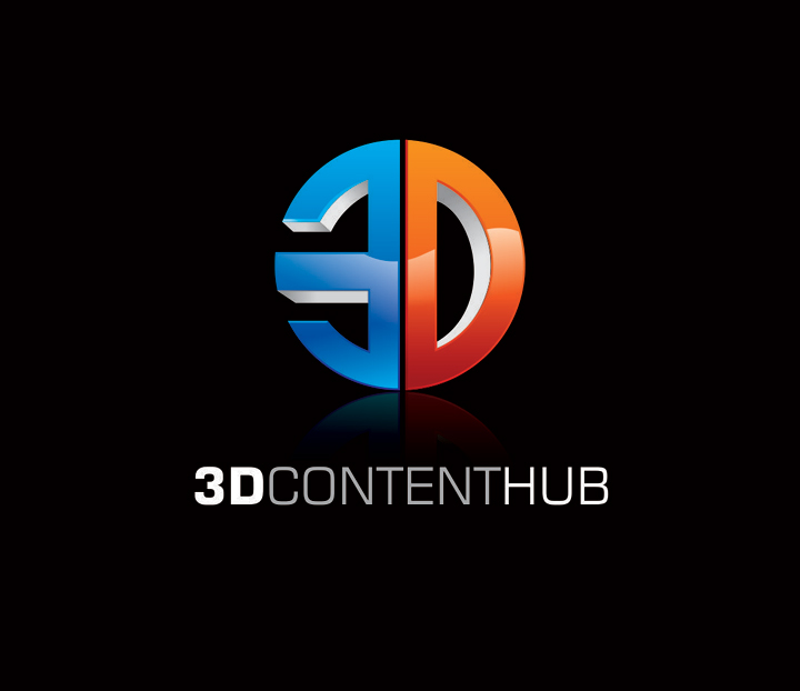 Logo Design by vdhadse - Entry No. 100 in the Logo Design Contest Unique Logo Design Wanted for 3DContentHub (.com).