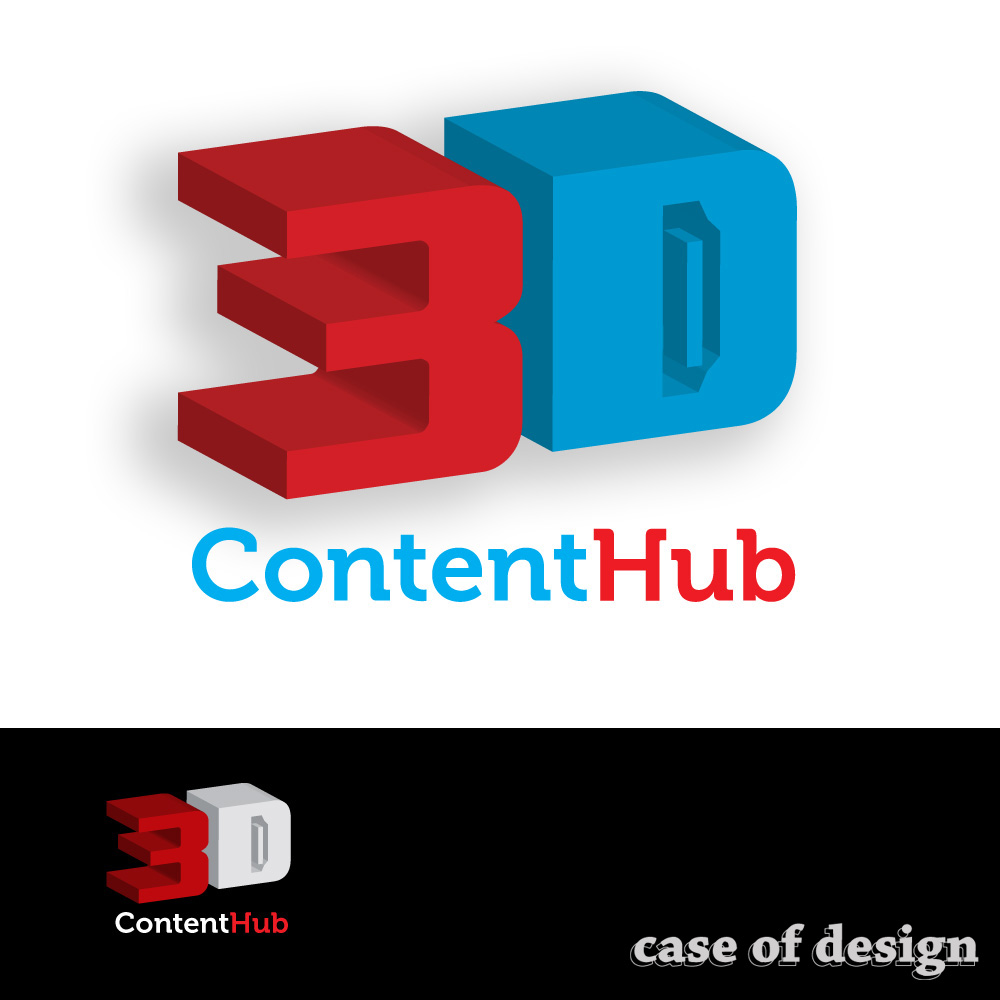 Logo Design by caseofdesign - Entry No. 109 in the Logo Design Contest Unique Logo Design Wanted for 3DContentHub (.com).