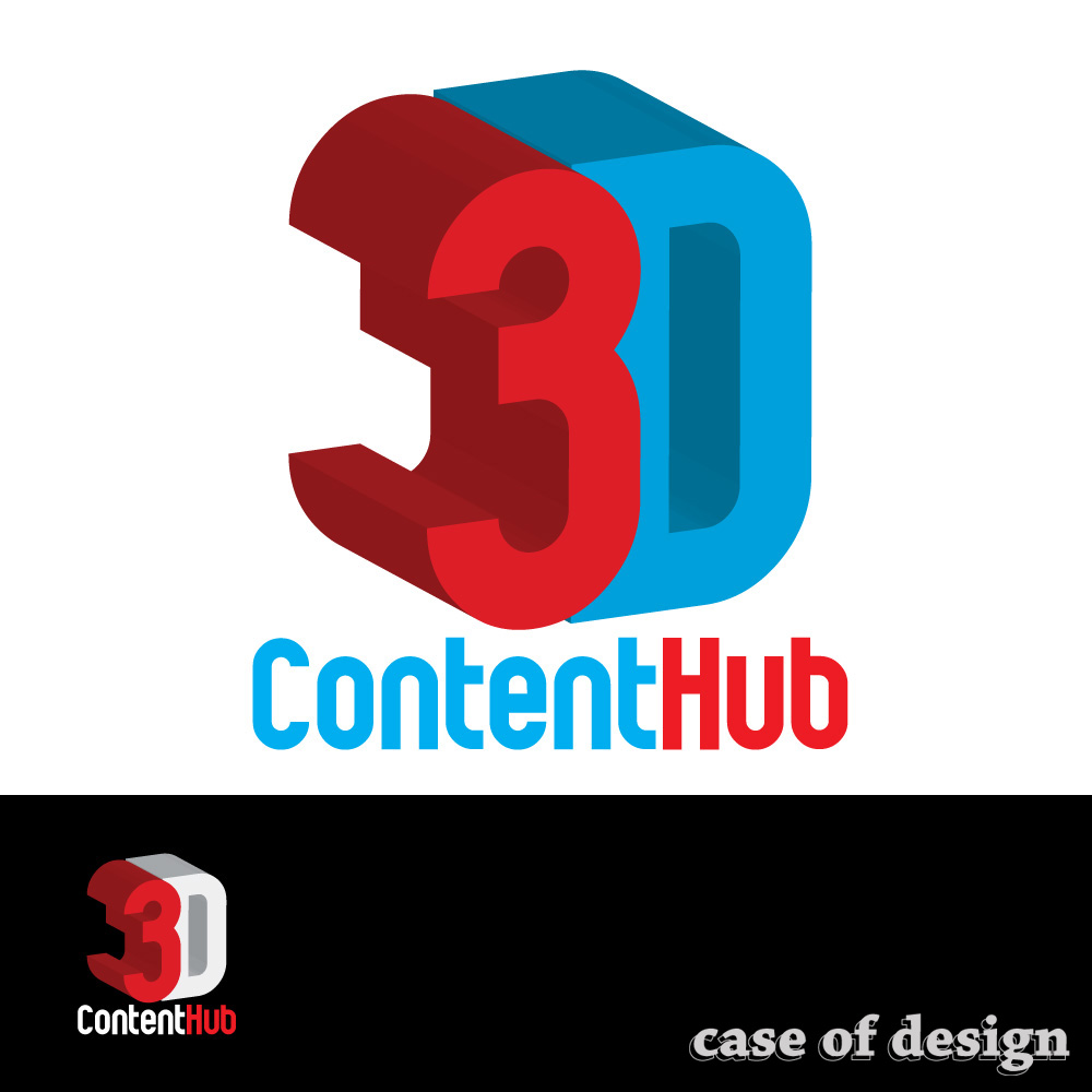 Logo Design by caseofdesign - Entry No. 110 in the Logo Design Contest Unique Logo Design Wanted for 3DContentHub (.com).