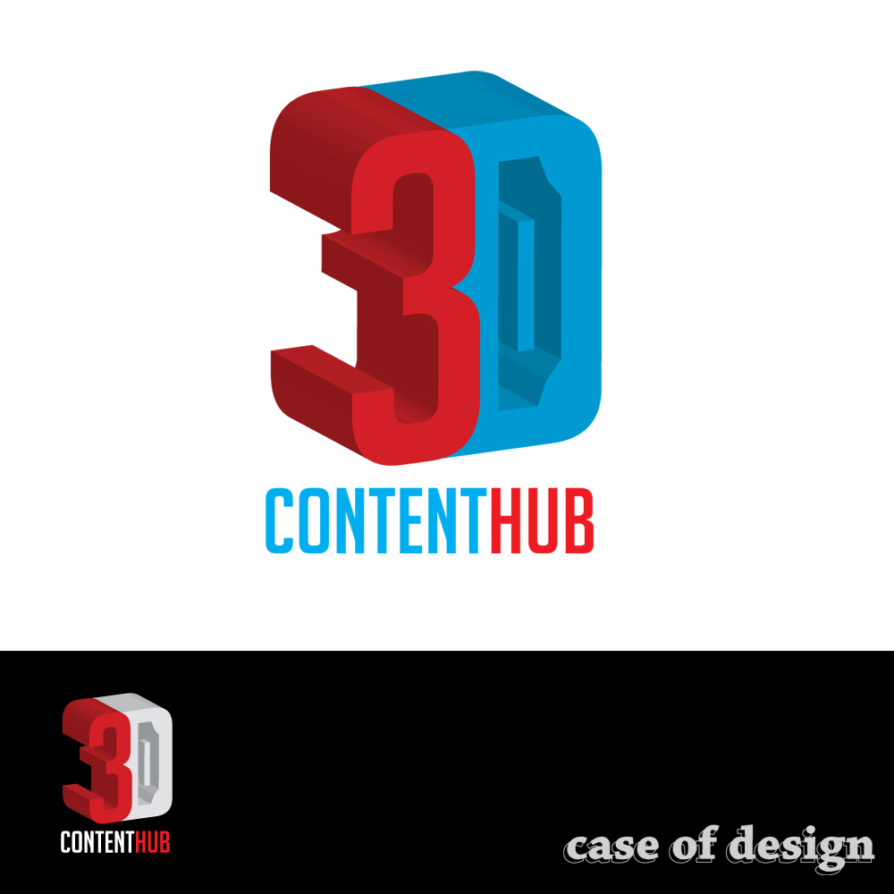 Logo Design by caseofdesign - Entry No. 112 in the Logo Design Contest Unique Logo Design Wanted for 3DContentHub (.com).
