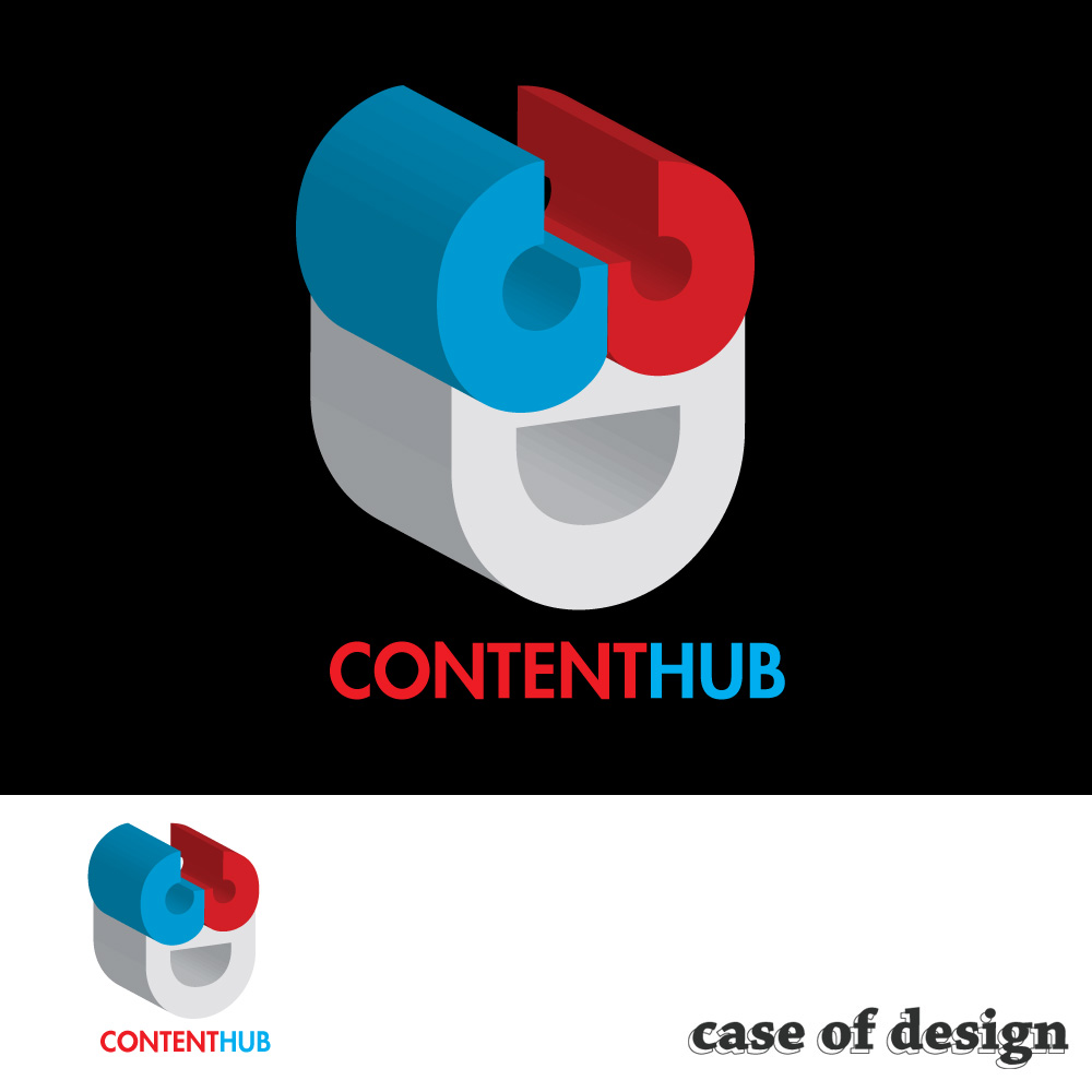 Logo Design by caseofdesign - Entry No. 113 in the Logo Design Contest Unique Logo Design Wanted for 3DContentHub (.com).