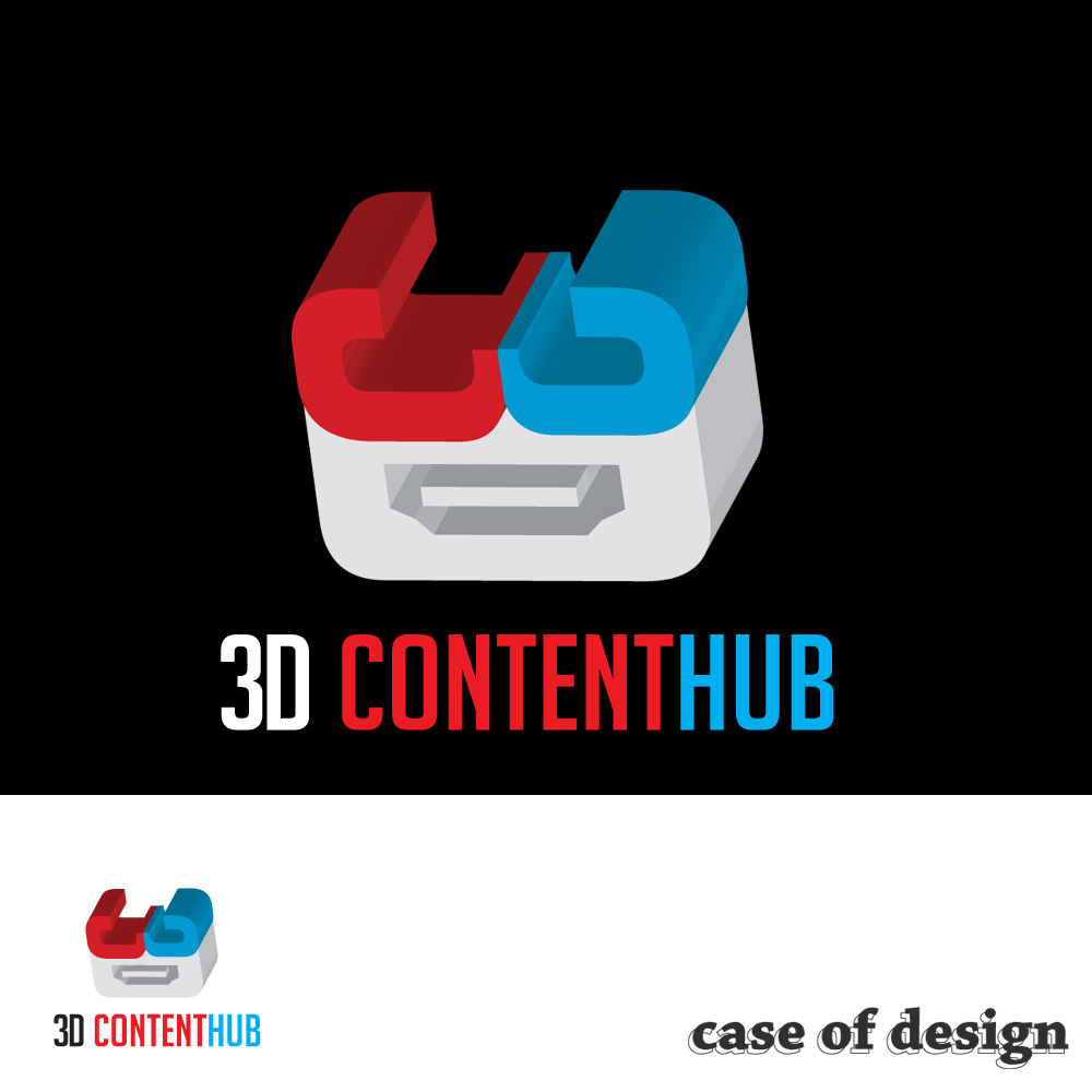 Logo Design by caseofdesign - Entry No. 119 in the Logo Design Contest Unique Logo Design Wanted for 3DContentHub (.com).