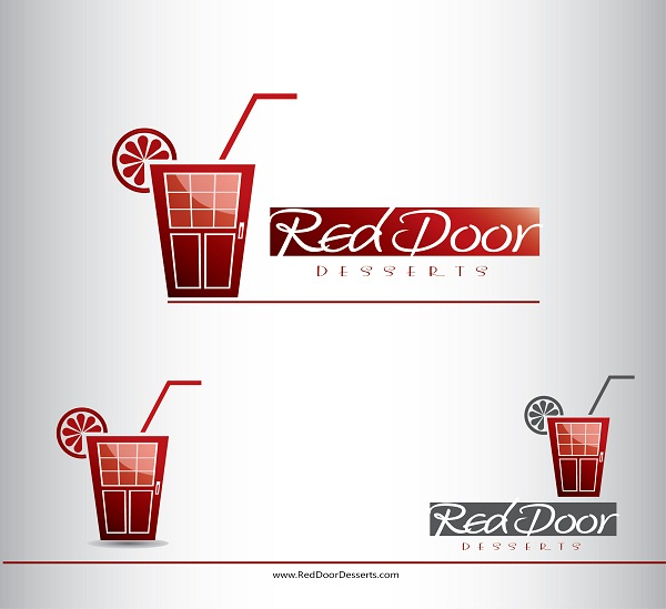 Logo Design by kowreck - Entry No. 7 in the Logo Design Contest Fun Logo Design for Red Door Desserts.