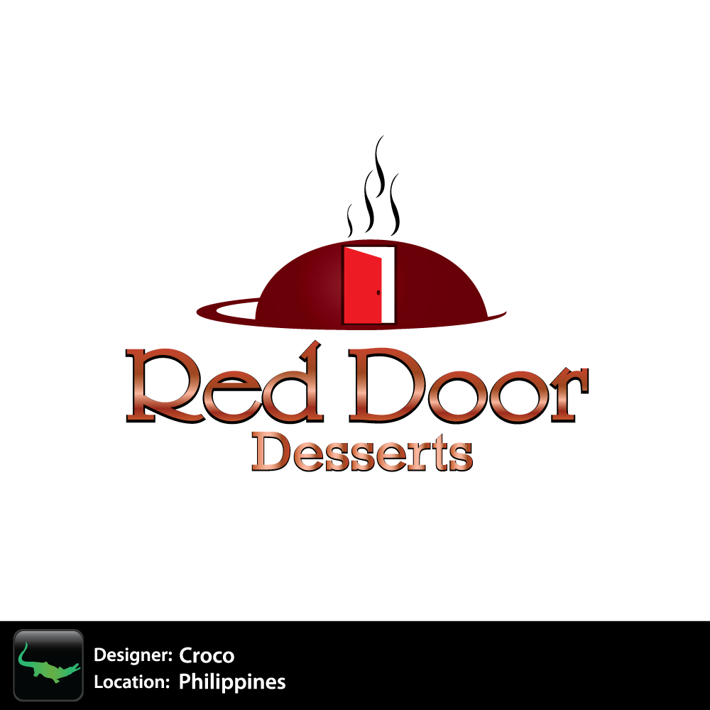 Logo Design by rockin - Entry No. 8 in the Logo Design Contest Fun Logo Design for Red Door Desserts.