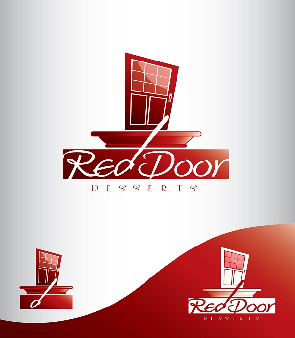Logo Design by kowreck - Entry No. 9 in the Logo Design Contest Fun Logo Design for Red Door Desserts.