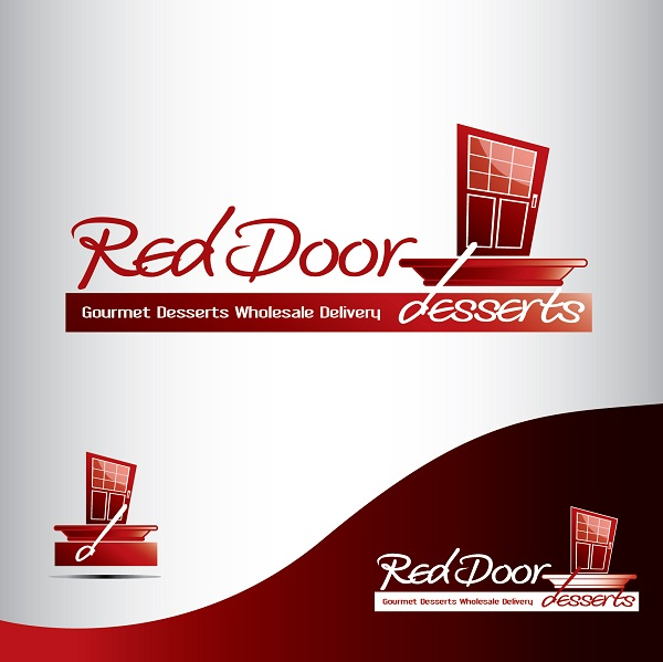 Logo Design by kowreck - Entry No. 10 in the Logo Design Contest Fun Logo Design for Red Door Desserts.