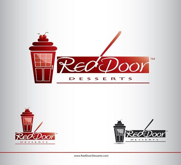 Logo Design by kowreck - Entry No. 12 in the Logo Design Contest Fun Logo Design for Red Door Desserts.