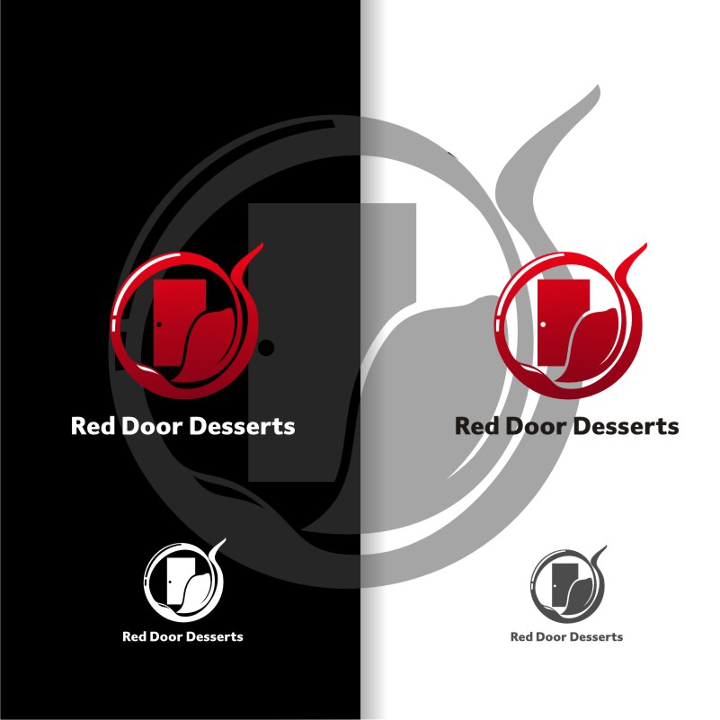 Logo Design by graphicleaf - Entry No. 13 in the Logo Design Contest Fun Logo Design for Red Door Desserts.