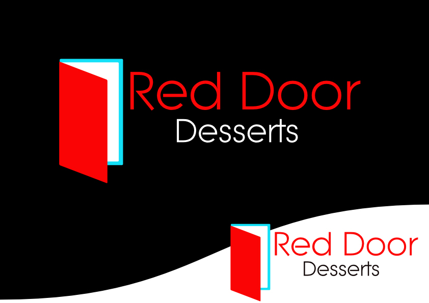 Logo Design by Heri Susanto - Entry No. 17 in the Logo Design Contest Fun Logo Design for Red Door Desserts.