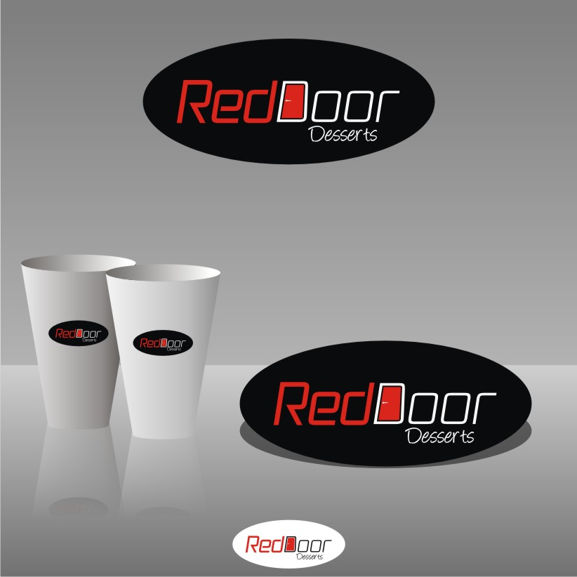 Logo Design by graphicleaf - Entry No. 19 in the Logo Design Contest Fun Logo Design for Red Door Desserts.